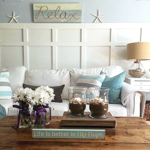 Easy Changes Coastal Living Room Makeover Ideas
