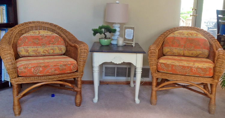 Where To Buy Wicker Chairs Revolving Chair Exchange Mimiberry Creations Easy And Cheap Update Hehe Oops Should Ve Moved It Before Taking The Picture But I Had Bought These For 20 Piece Was Worried Made A Mistake