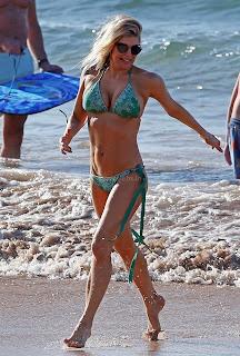 FERGIE Huge Boobs Visible in sexy Bikini Huge Ass Beach Side Fun WOW Must see