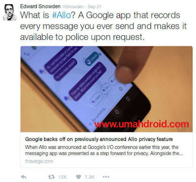 Google Allo Security Issue Edward Snowden