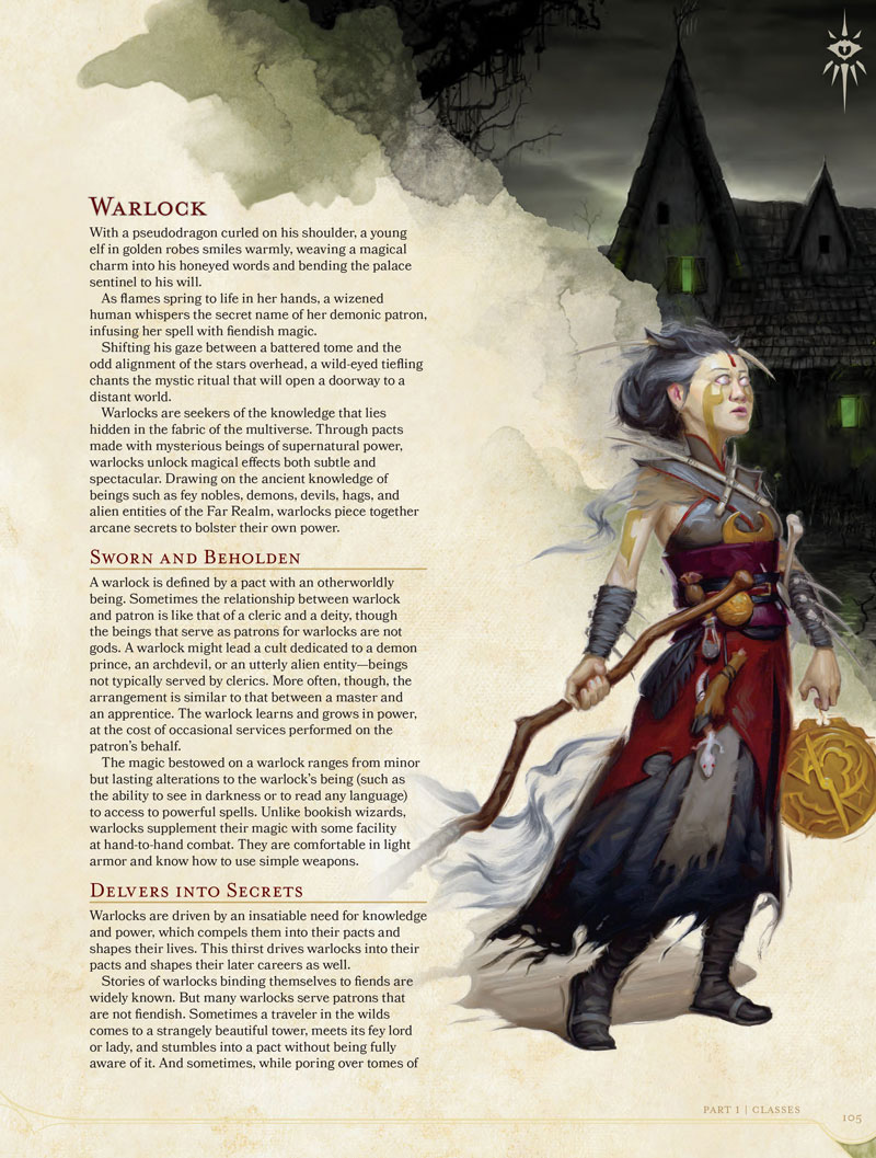 D&D 5th Edition Player's Handbook - Character Illustration by Rob Rey - robreyart.com