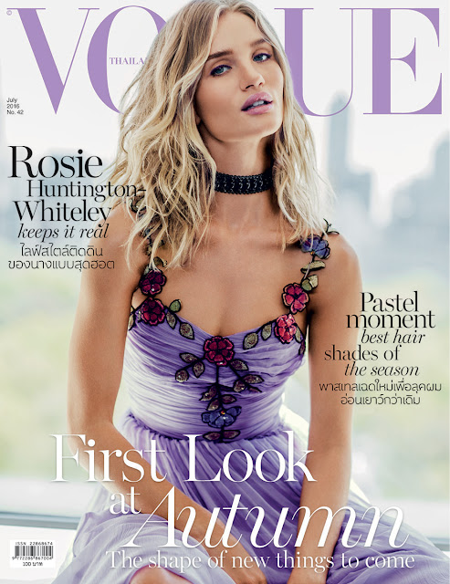 Actress, Model, @ Rosie Huntington-Whiteley - Russell James for Vogue Thailand, July 2016