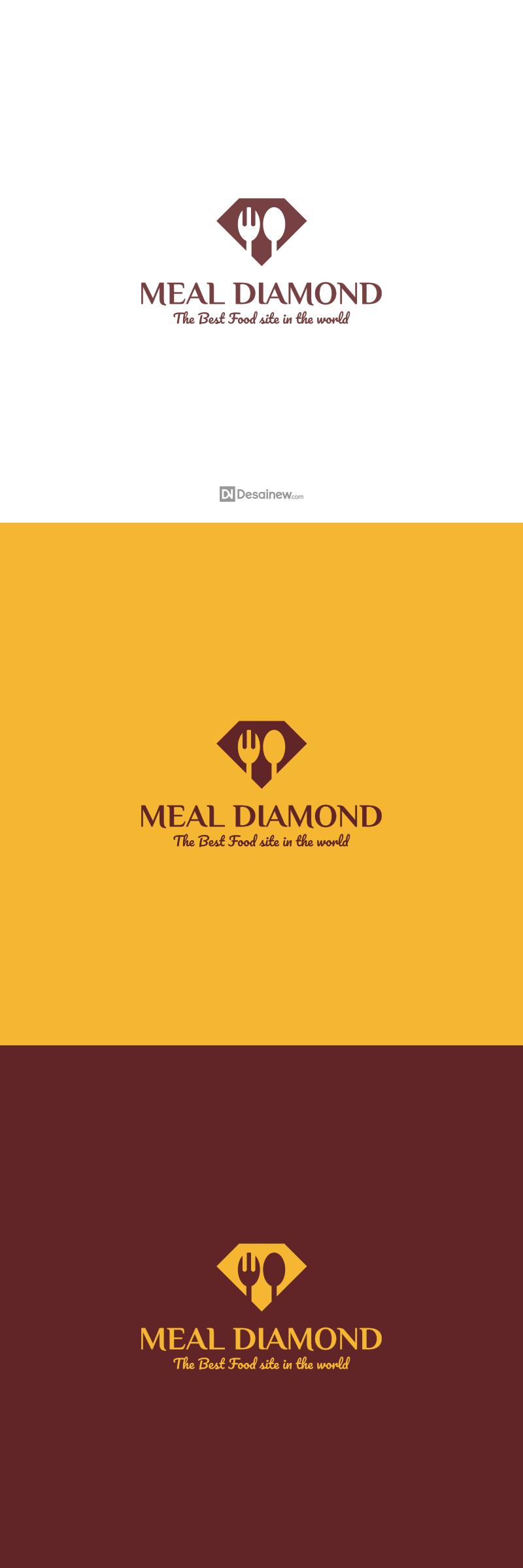 Meal Diamond Logo Design Project Portfolio Desainew Studio