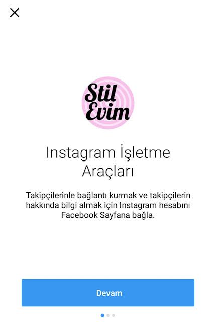 instagram işletme profili geçiş