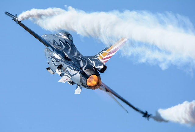 F-16 BELGIAN AIR FORCE DEMO TEAM AIRSHOW SCHEDULE 2016