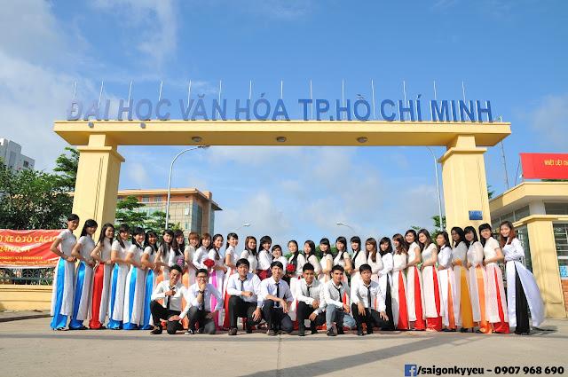 Tập thể lớp Thư Viện 6 - Đại học Văn Hóa Tp HCM