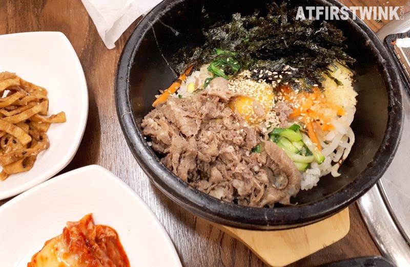 Daega korean bbq restaurant myeongdong seoul korea beef bibimbap bowl