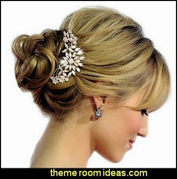 Bridal Flower Snowflake Hair Comb Clear Austrian Crystal