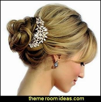 Bridal Flower Snowflake Hair Comb Clear Austrian Crystal