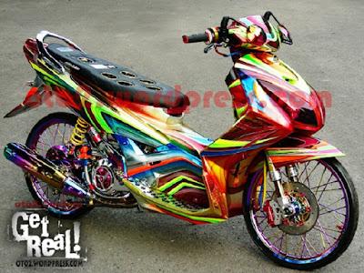 31 Foto Gambar Modifikasi Motor Yamaha Nouvo Z Yang Terbaru