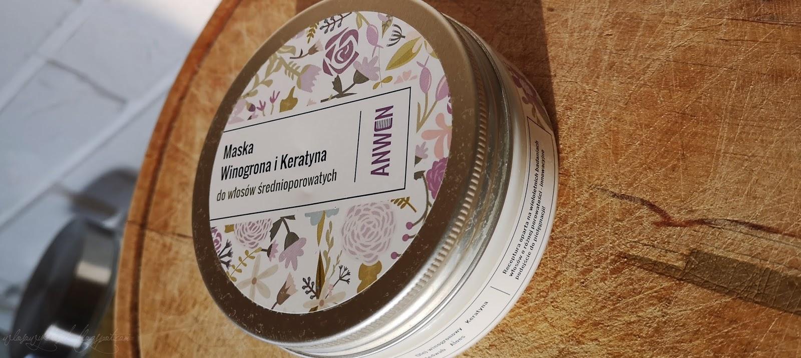 Recenzja #17  Czy warto kupić maskę od Anwen? // Maska winogrona i keratyna dla włosów średnioporowatych