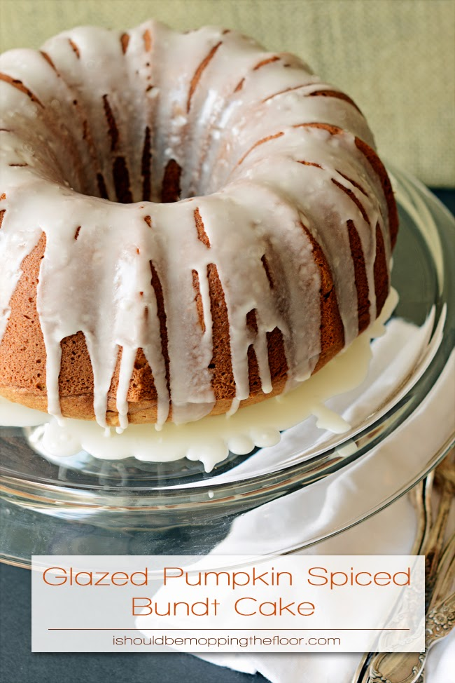 This Glazed Pumpkin Spiced Bundt Cake will make you want to throw on a scarf and zip up your boots...it's all kinds of fall! This cake is made super moist and autumn-y with International Delight Pumpkin Pie Spice Creamer.