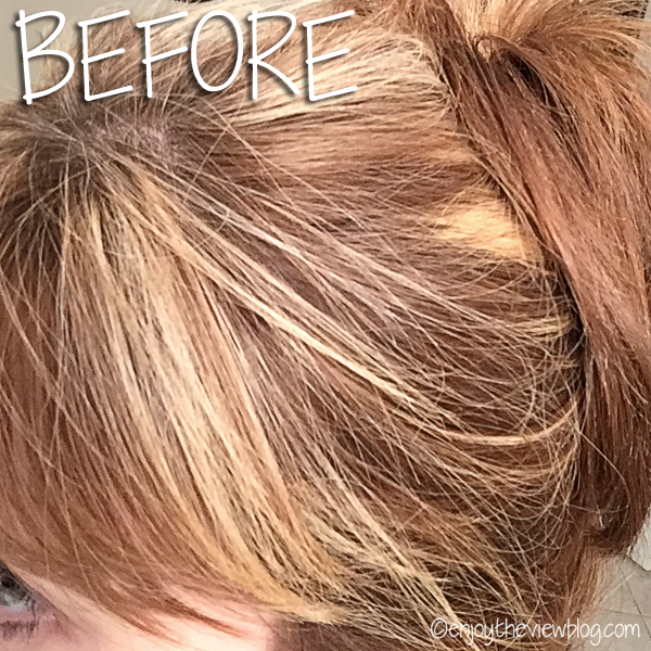 My hair before I sprayed it with drybar® Detox Dry Shampoo.