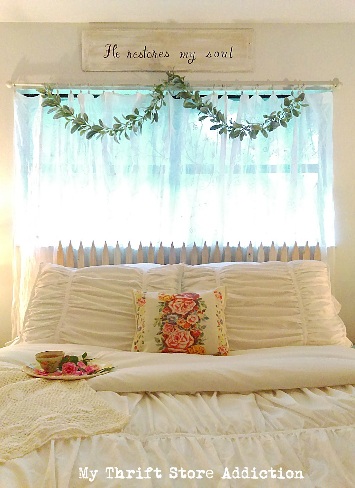 $40 floral inspired bedroom refresh