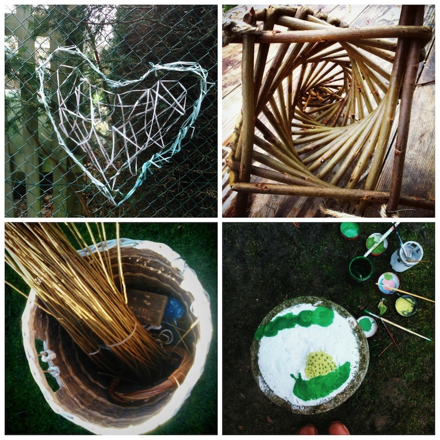 Willow crafts and decoration for Beach House Park