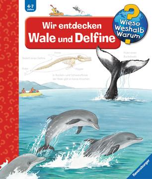 """In meinem neuesten Bücherboot stelle ich Euch zahlreiche Kinderbücher zum Thema """"Wale"""" vor. Und auch für die Eltern bzw. Erwachsenen ist etwas dabei :) Jedes der vorgestellten Kinder- und Jugendbücher darf ich am Ende des Posts auch an Euch verlosen - damit Ihr voller Wal-Faszination schmökern könnt! Hier seht Ihr übrigens das Cover zu """"Wir entdecken Wale und Delfine""""."""