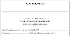 Download Contoh Format SKHUS Untuk MI/SD