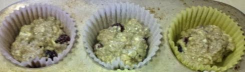 Blackberry apple muffins, good muffin recipe, Blackberry muffin recipe, how to use up blackberries