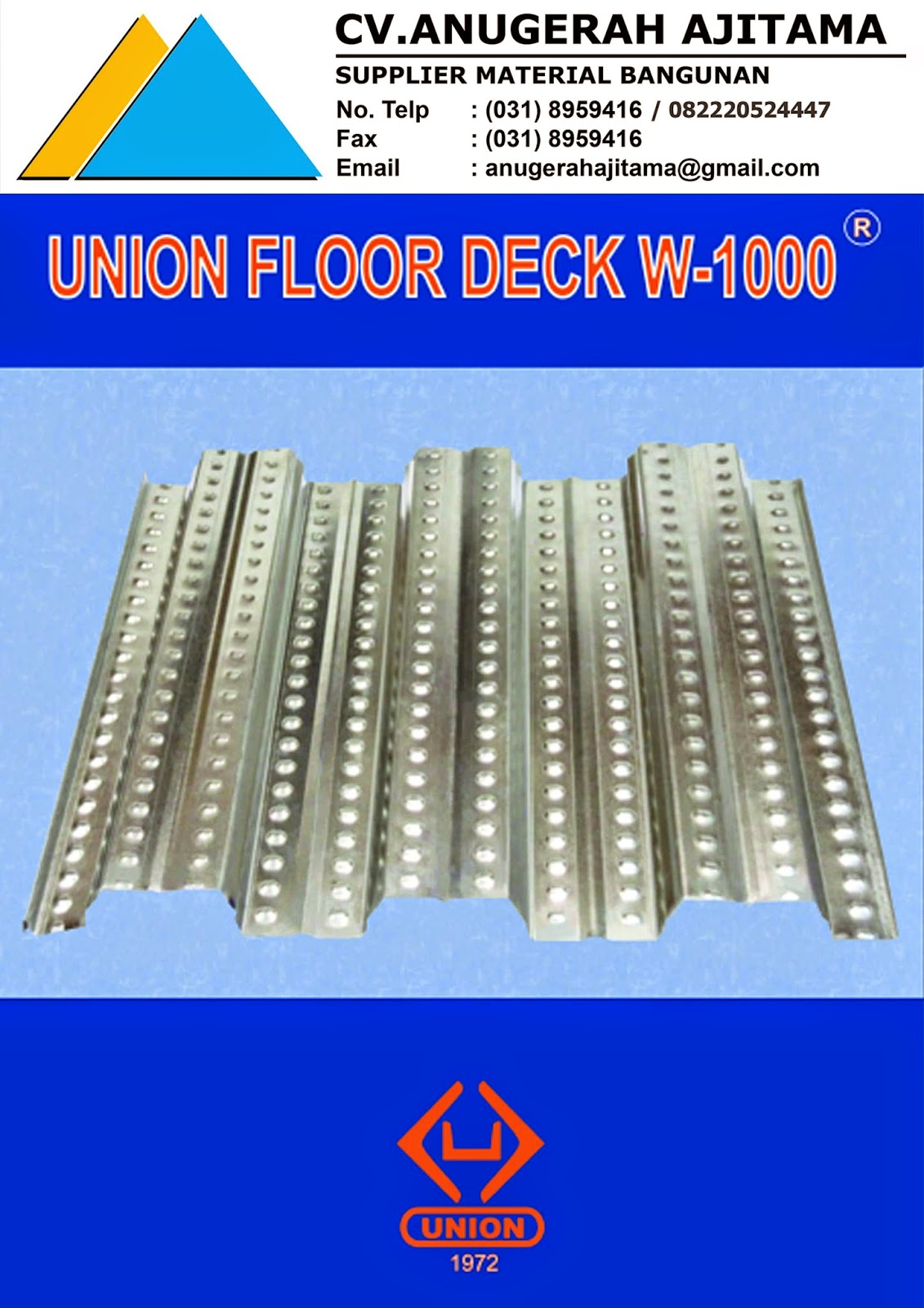 PRODUK UNION FLOOR DECK W-1000