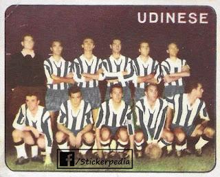 Calciatori panini 1961/62 squadra Udinese
