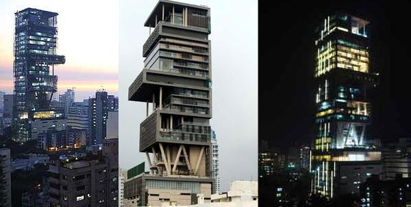 Antilia, Mumbai, en la India, es la casa mas cara del mundo