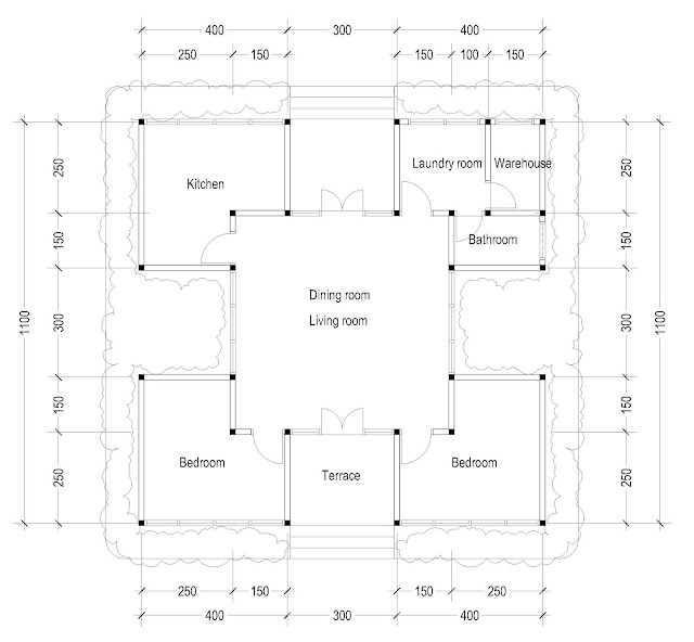 Square house plan