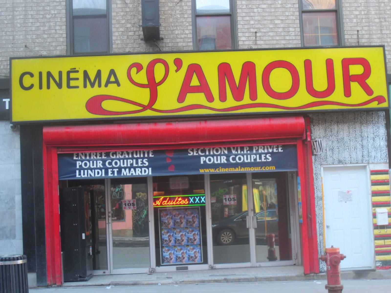 Montreal Journal III: Cinema L'Amour