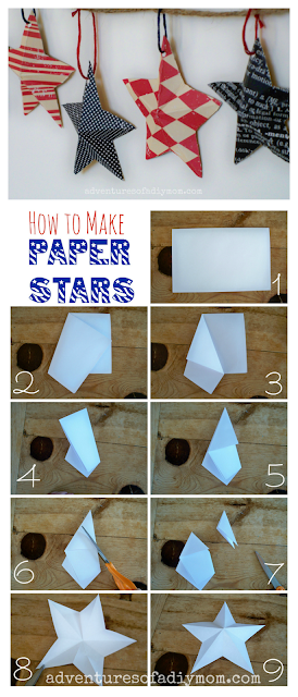 3-D paper star instructions