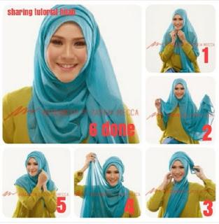 Tutorial Hijab Ala Zaskia Mecca