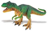 green t rex dinosaur toy miniature