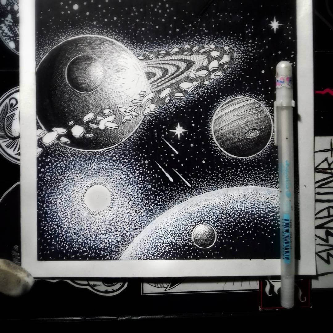 06-Planets-and-Stars-G-A-Yuangga-Fineliner-Stippling-Drawings-www-designstack-co