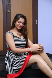 Ashwini in Spicy Short Deep Neck Dress at Pelliki Mundu Prema Katha Trailer Launch Exclusive  13.JPG