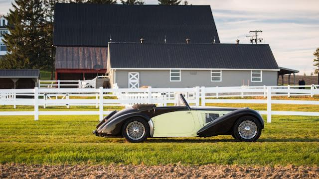 Bugatti Type 57S Cabriolet 1937 - Elegancia y estilo reunidos en un coche clásico