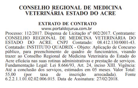 CRMV - AC deve abrir concurso nas próximas semanas para o Acre;