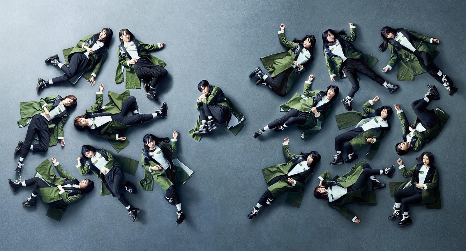 Keyakizaka46 (欅坂46) - Kuroi Hitsuji (黒い羊) single detail cd dvd member list lyrics kanji romaji indonesia