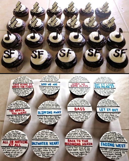 Switchfoot Themed Cupcakes - Logos & Lyrics - Fading West