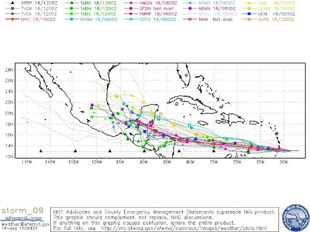 Tropical Storm Harvey Spaghetti Models