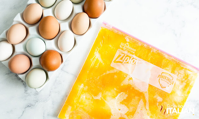 How to freeze eggs in bulk