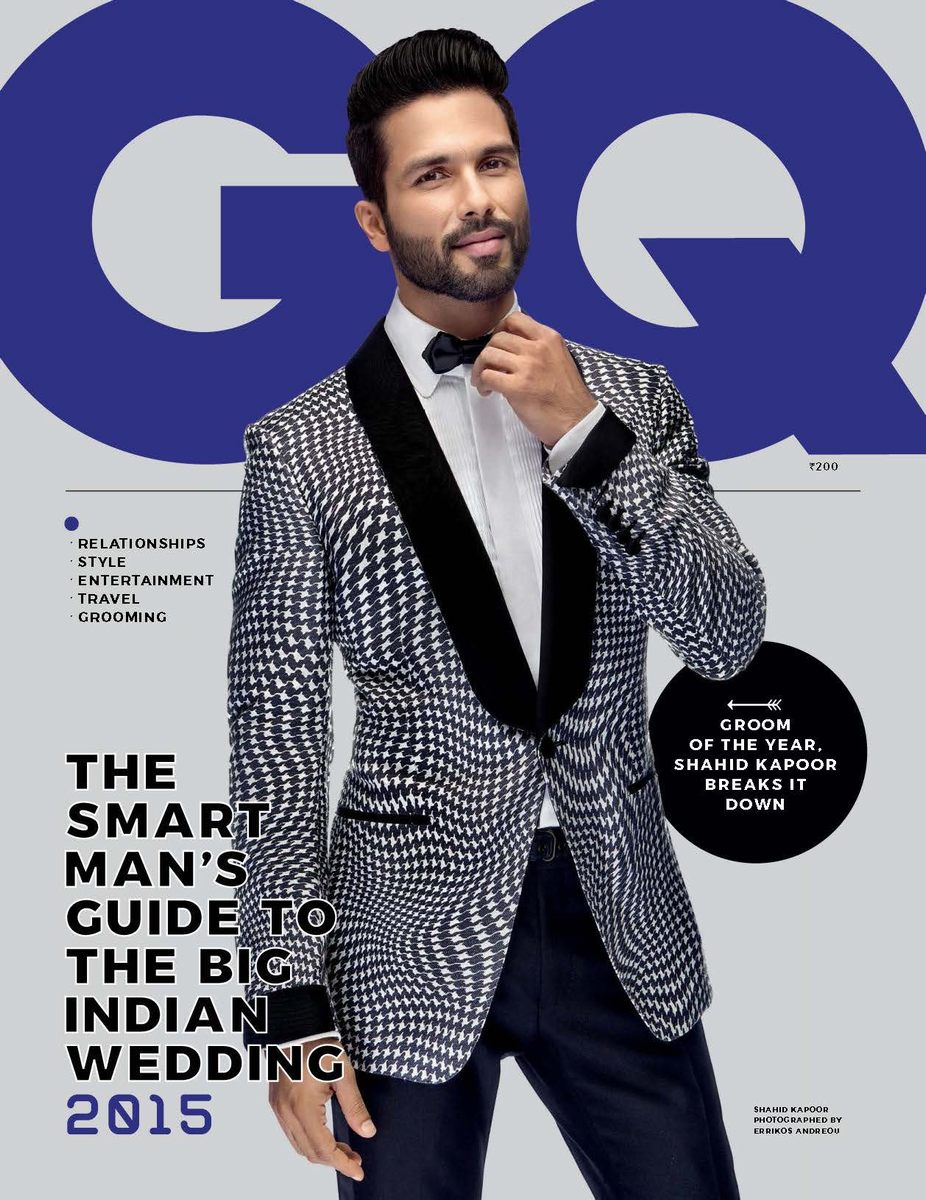 2015 Gq Men Of The Year Party In Los Angeles: Shahid Kapoor Para GQ Style India 2015