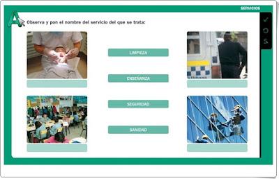 """""""Los servicios"""" Editorial La Galera 2º de Primaria"""