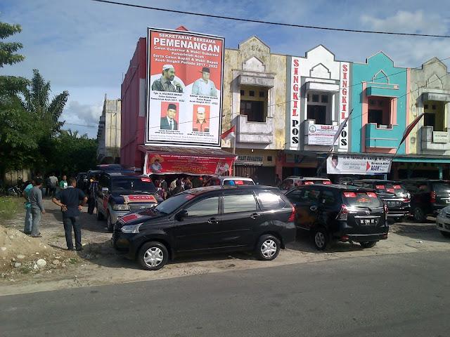 """Ratusan Warga Aceh Singkil """"Merahkan"""" Acara Deklarasi Muzakir Manaf – TA.Khalid"""
