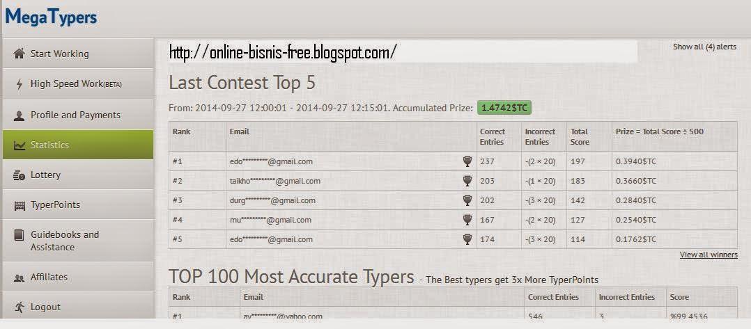 Cara mendaftar megatypers wangsawang ini adalah screenshot halaman dasbor megatypers stopboris Images