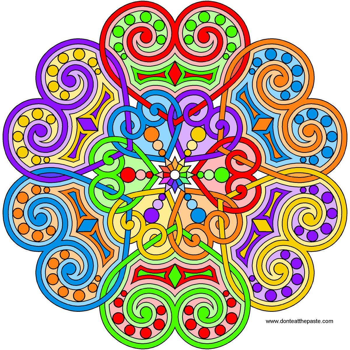 Don't Eat the Paste: Heart Mandala for Summer 2015
