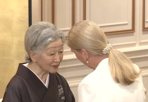 Empress Michiko of Japan attended the closing reception of the 2018 Zonta International Convention held at the Yokohama Royal Park Hotel