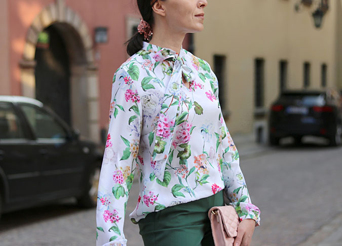 damska koszula w kwiaty stylizacje 2018