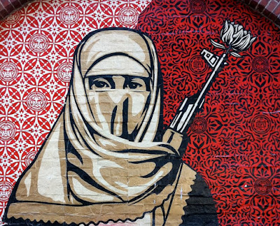 Muslim Woman Boston Street Art