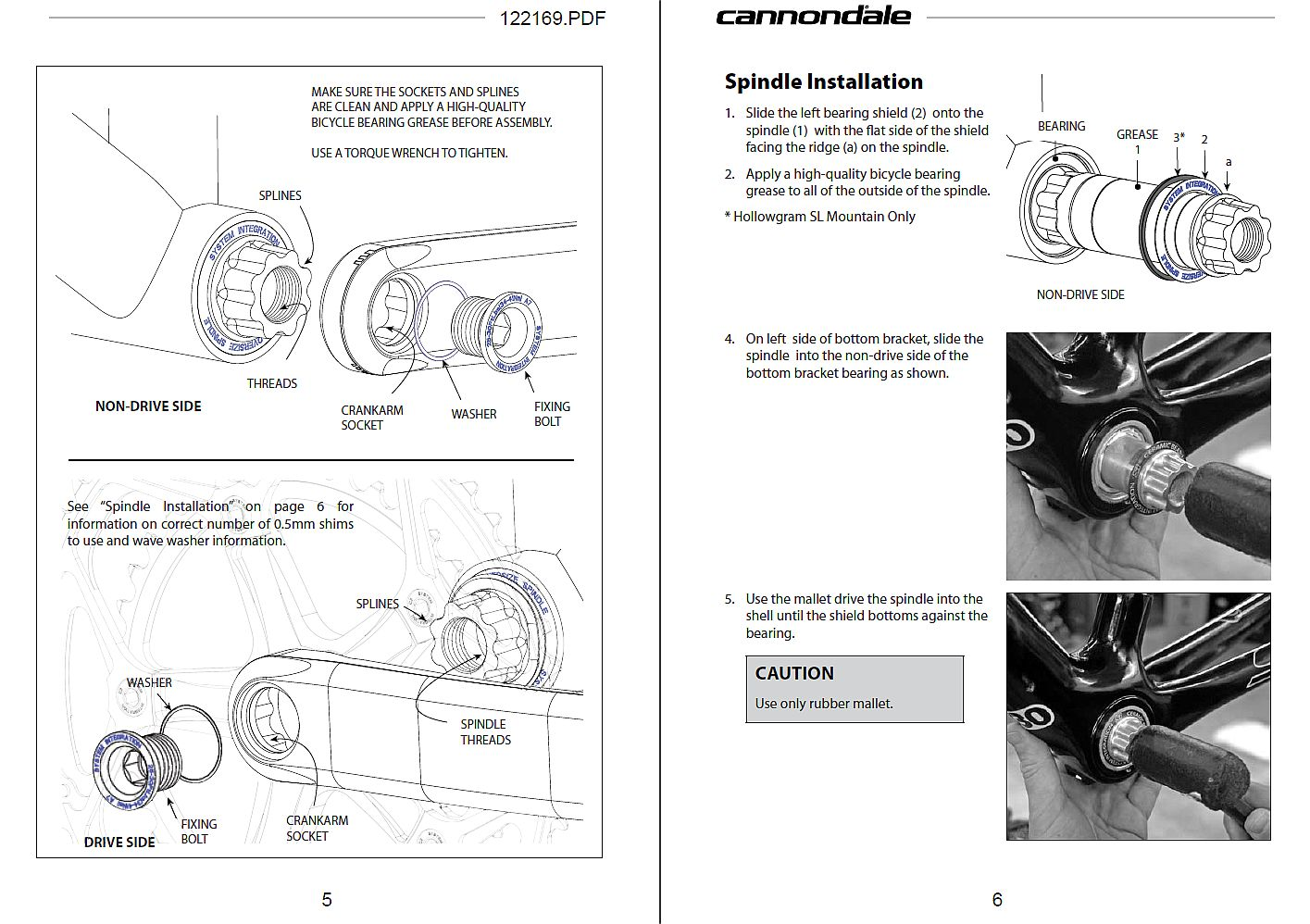 Cannondale Crankset Manual