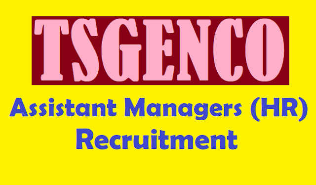 TS Jobs, TS Recruitment, TSGENCO JOBS, TSGENCO Assistant Managers(HR), Telangana State Power Generation Corporation Limited, Assistant Managers Posts, www.tsgenco.cgg.gov.in