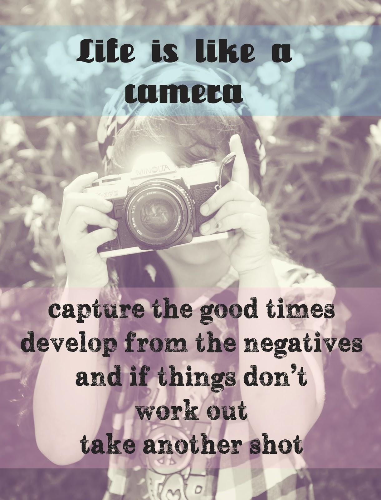 Life Is Like A Camera Photography