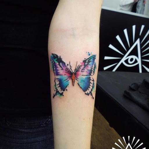 Esta aquarela borboleta